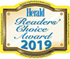 Logo Recognizing The Derrick Law Firm's affiliation with Readers' Choice Award